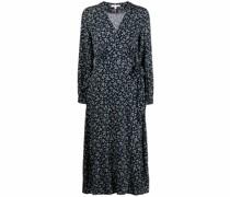 Raya floral-print wrap dress
