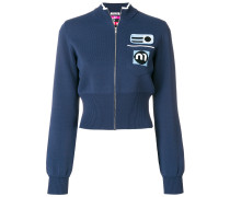 logo knit jacket