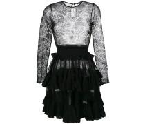 Ausgestelltes Kleid mit Spitzeneinsatz