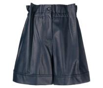 Shorts aus Kunstleder