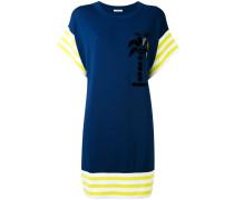 T-Shirt-Kleid mit Kontrastsaum