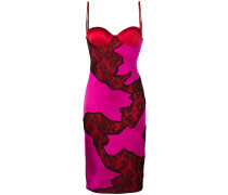 lace panel fitted dress