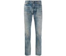 Tief sitzende Distressed-Jeans