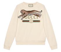 Sweatshirt mit Leopardenmuster