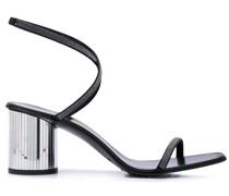 Sandalen mit Metallic-Absatz