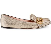 Ballerina aus metallischem Leder