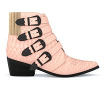 Stiefel im Western-Look aus Schlangenleder - Unavailable