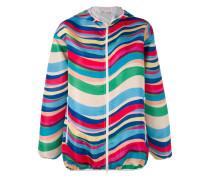 striped hooded jacket - women