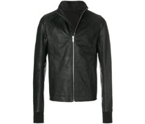 fitted leather jacket
