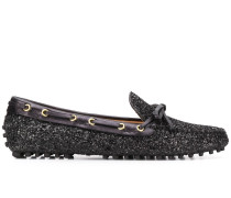 Loafer in Glitter-Optik