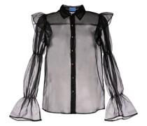 'Souffle' Bluse mit Sheer-Effekt