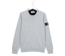 Sweatshirt mit Logo-Patch - kids - Baumwolle