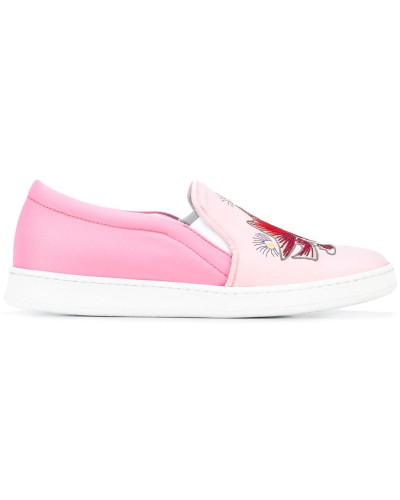 Bestickte Slip-On-Sneakers