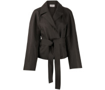 Oversized-Jacke mit Bindegürtel