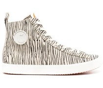 Gestreifte High-Top-Sneakers