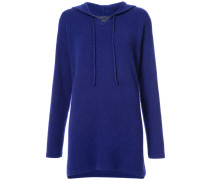 relaxed fit knit hoodie