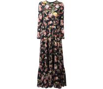 Kleid mit floraler Stickerei - women