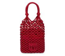Makramee-Handtasche mit Logo