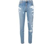 Distressed-Jeans mit schmalem Bein