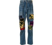 A BATHING APE® Gerade Patchwork-Jeans