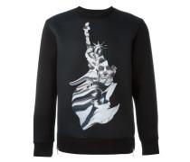 Sweatshirt mit Statuen-Print