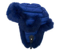 padded fur trim hat