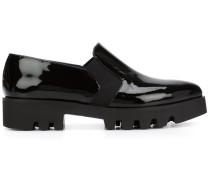 Spitze Loafer mit Stretcheinsätzen