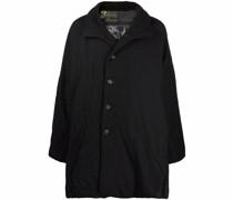 Einreihiger Mantel mit Knitteroptik
