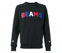 "Sweatshirt mit ""Beams""-Print"