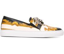 Slip-On-Sneakers mit Barock-Print