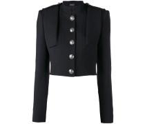 Cropped-Jacke mit verzierten Knöpfen - women