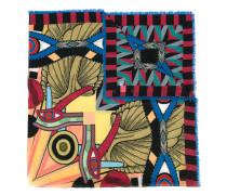 Egyptian square print scarf