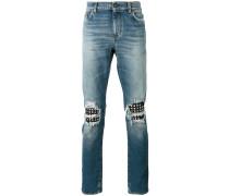 Jeans mit Nietenbesatz