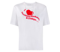 "T-Shirt mit ""I Heart Weekends""-Print"