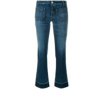 Cropped-Jeans aus Baumwollgemisch