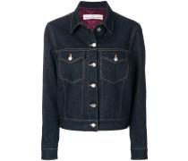 stitched denim jacket