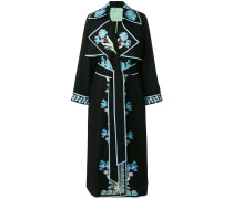 Opium embroidered wrap dress
