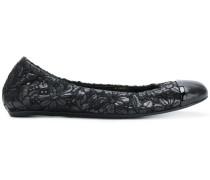 floral toe cap ballerina shoes