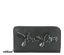 embellished logo wallet