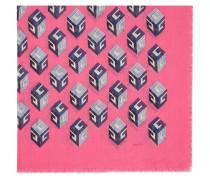 GG Wallpaper print modal silk shawl
