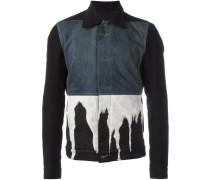 Jeansjacke mit ausgebleichtem Material