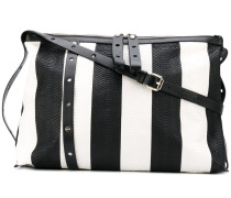 striped shoulder bag - women