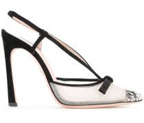 - Slingback-Sandalen mit semi-transparentem
