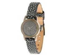 'Cute' Armbanduhr mit schwarzen Diamanten