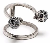 crystal-embellished skull ring
