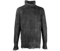 Gerippter Pullover im Distressed-Look