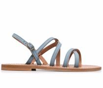 Slingback-Sandalen mit Riemen