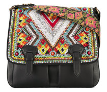 - bead embellished satchel - women - Lammleder