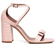Hudson croc-effect block heel sandals
