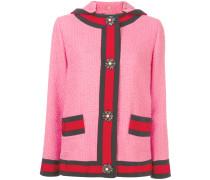 Tweed-Jacke mit Kapuze